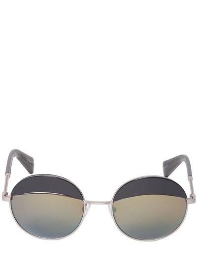 Yohji Yamamoto - Oversized Round Iridescent Sunglasses