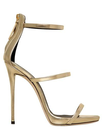 Giuseppe Zanotti 120mm Metallic Leather Sandals