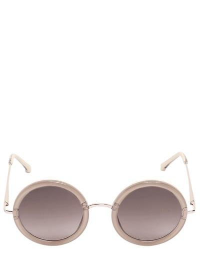 The Row - Oversized Acetate Round Sunglasses