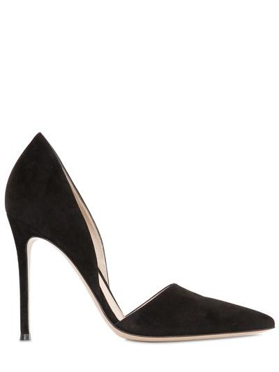 Gianvito Rossi - 100mm Suede D'orsay Pumps