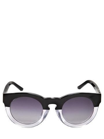 Linda Farrow X 3.1 Phillip Lim - Two Tone Round Acetate Sunglasses