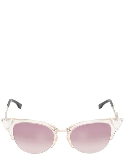 Fendi Cat Eye Sunglasses With Crystal Details