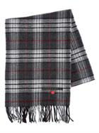 Dsquared2 Fringed Plaid Wool Flannel Scarf