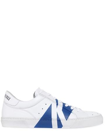 Dirk Bikkembergs Rubb-er Spray Painted Leather Sneakers