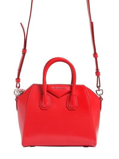 Givenchy - Mini Antigona Shiny Leather Bag