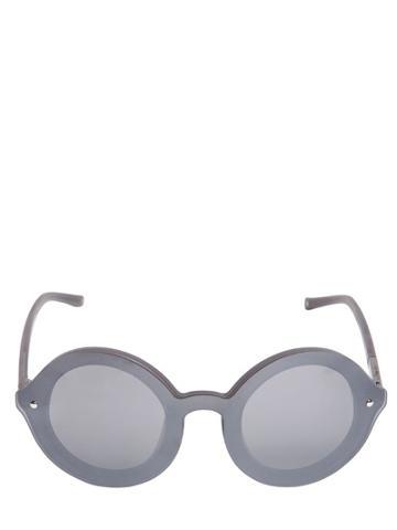 3.1 Phillip Lim X Linda Farrow Silver Big Round Acetate Sunglasses