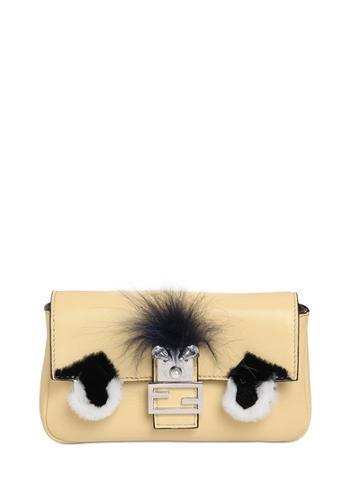 Fendi - Micro Baguette Monster Leather Bag