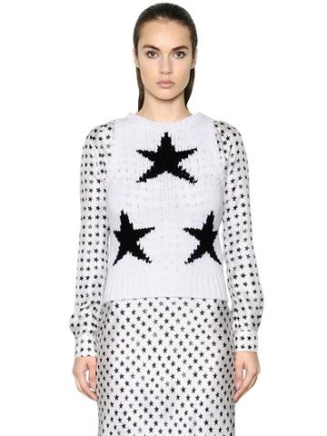 Max Mara Sleeveless Star Intarsia Knit Sweater