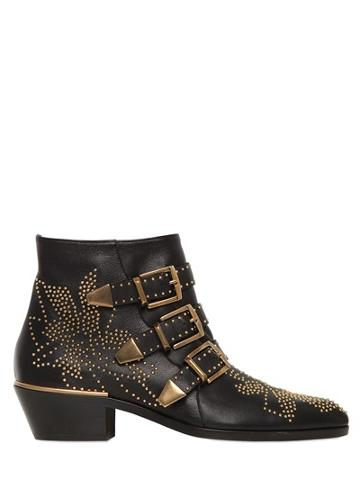 Chloe' - 30mm Susannah Studded Leather Boots