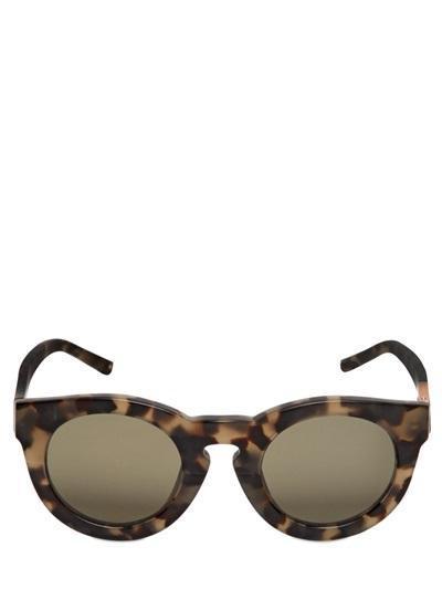 Linda Farrow X 3.1 Phillip Lim - Printed Round Matte Acetate Sunglasses