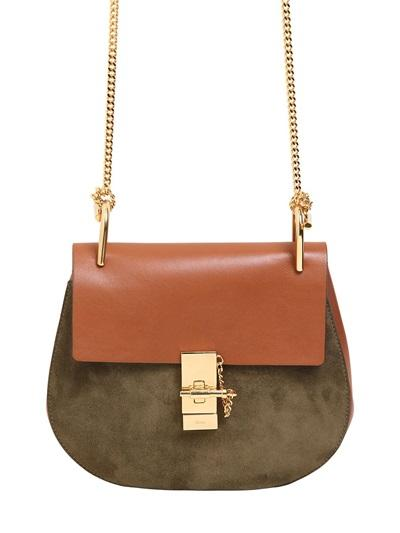 Chlo  - Small Drew Suede & Leather Shoulder Bag