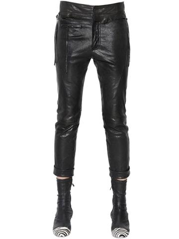 Haider Ackermann Cropped Nappa Leather Pants