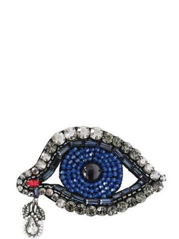 Gucci Crystal Embellished Eye Pin