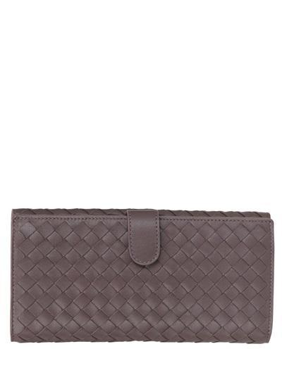 Bottega Veneta - Woven Nappa Leather Continental Wallet
