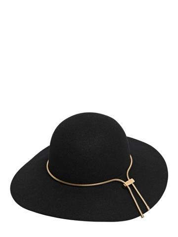 Lanvin - Rabbit Fur Felt Hat With Chain
