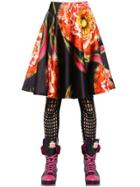 Manish Arora Printed Duchesse Satin Skirt