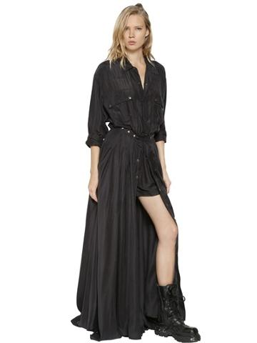 Faith Connexion Silk Crepe De Chine Shirt Dress