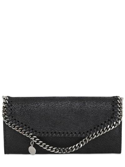 Stella Mccartney Shaggy Faux Deer Continental Wallet