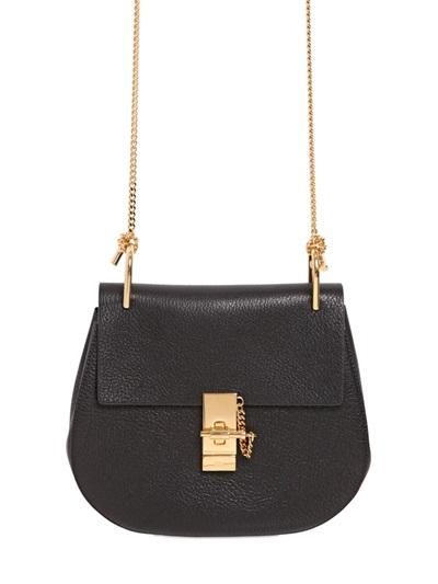 Chloe' - Small Drew Grained Nappa Leather Bag