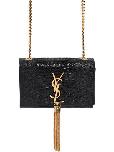 Saint Laurent - Monogramme Tejus Embossed Leather Bag