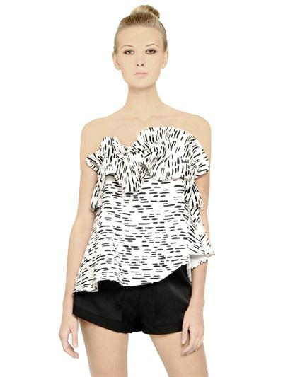 Cameo - Printed Heavy Techno Duchesse Top