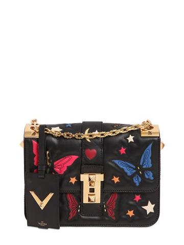 Valentino B-rockstud Butterfly & Star Leather Bag
