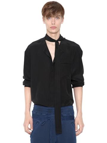 Haider Ackermann Shawl Linen & Viscose Shirt