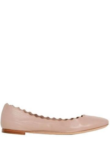 Chloe' - Lauren Nappa Leather Ballerina Flats