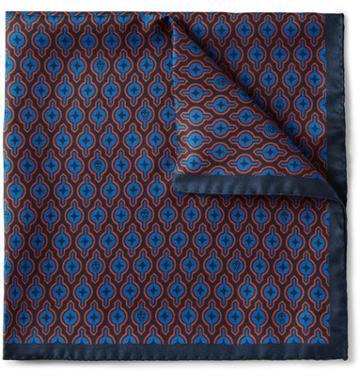 Alexander Mcqueen Printed Silk Pocket Square