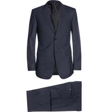 Gucci Navy Brera Slim-fit Wool Suit