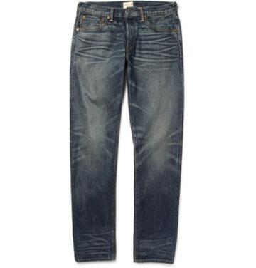 Simon Miller Slim-fit Washed Selvedge Denim Jeans
