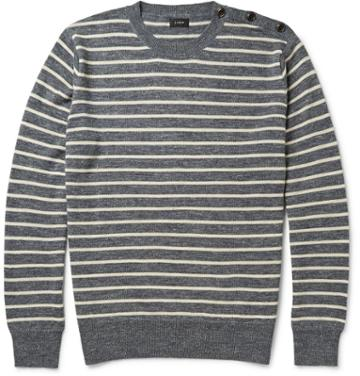 J.crew Babylon Striped Knitted Sweater