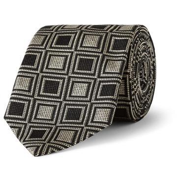 Marwood Silk-jacquard Tie