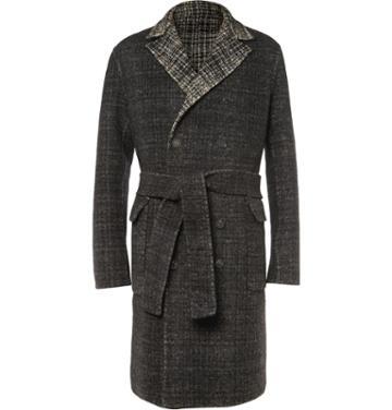 Bottega Veneta Reversible Oversized Wool And Mohair-blend Overcoat