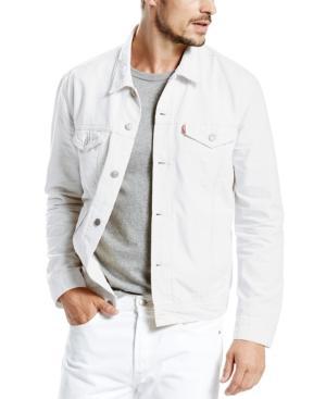 Levi's Men's White Denim Trucker Jacket