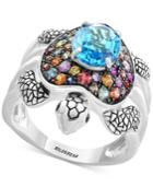 Balissima By Effy Multi-gemstone Turtle Ring (3-3/8 Ct. T.w.) In Sterling Silver