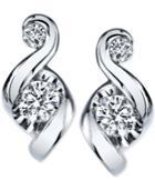 Proud Mom Diamond Swirl Stud Earrings (1/4 Ct. T.w.) In 14k Gold Or White Gold