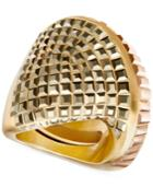 Swarovski Gold-tone Metallic Crystal Statement Ring