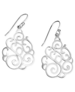 Giani Bernini Sterling Silver Earrings, Filigree Drops