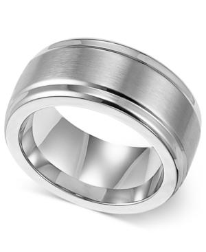 Triton Men's Stainless Steel Ring, 9mm Wedding Band