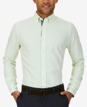 Nautica Men's Classic-fit Horizontal Stripe Long-sleeve Oxford
