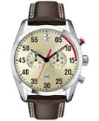 Scuderia Ferrari Men's Chronograph D50 Brown Leather Strap Watch 44mm 830174