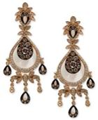 Espresso By Effy Brown (3/4 Ct. T.w.) And White Diamond (3/4 Ct. T.w.) Chandelier Earrings In 14k Gold