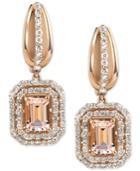 Morganite (2 Ct. T.w.) And Diamond (3/4 Ct. T.w.) Drop Earrings In 14k Rose Gold