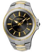 Seiko Men's Solar Coutura Two-tone Stainless Steel Bracelet Watch 43mm Sne412