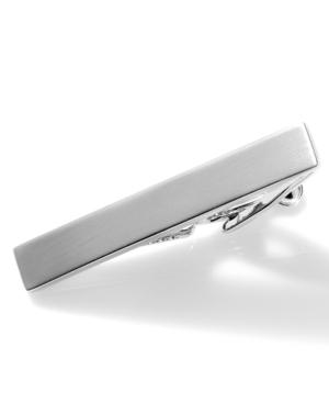 Kenneth Cole Reaction Tie Clip, Short Brushed Nickel With Gift Box