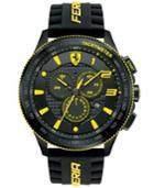 Scuderia Ferrari Men's Chronograph Scuderia Black Silicone Strap Watch 48mm 830139