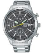 Pulsar Men's Solar Chronograph Stainless Steel Bracelet Watch 44mm Pz6011