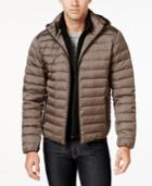 Calvin Klein Men's Packable Hooded Puffer Coat