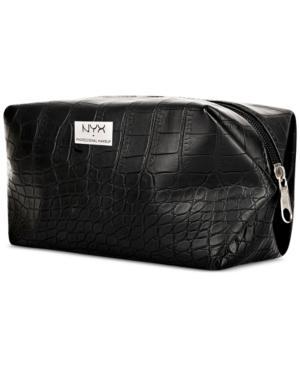 Nyx Professional Makeup Black Croc-embossed Cosmetic Bag